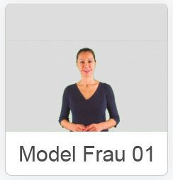 Video-Avatar Frau