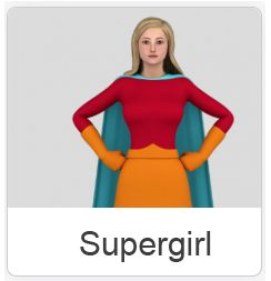 Video-Avatar Supergirl
